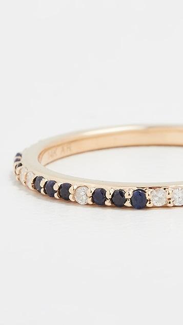 Adina Reyter Sapphire + Diamond Eternity Band Ring