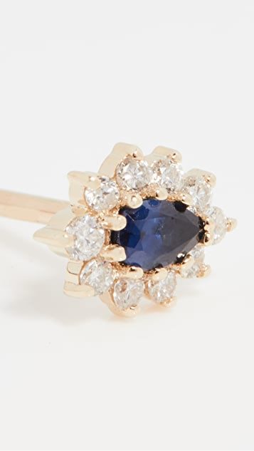 Adina Reyter 14k Sapphire + Diamond Earrings