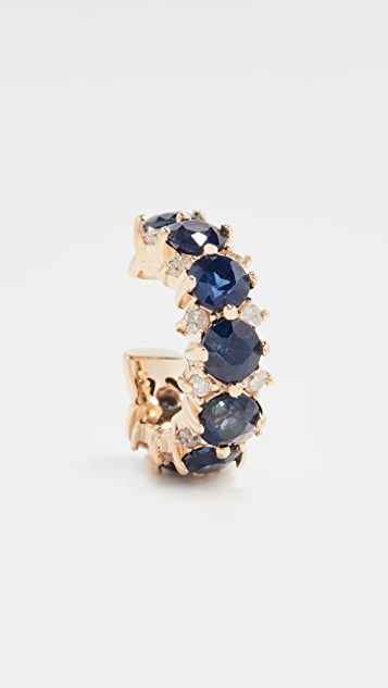 Adina Reyter 14k Sapphire + Diamond Ear Cuff
