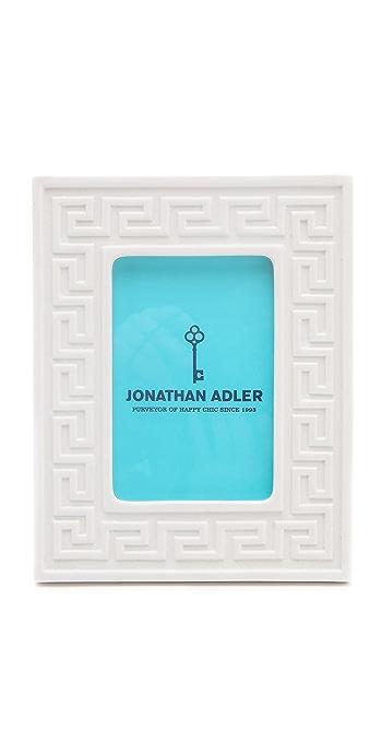 Jonathan Adler Greek Key Frame - White