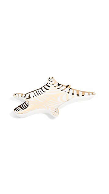 Jonathan Adler Блюдо Metallic Zebra