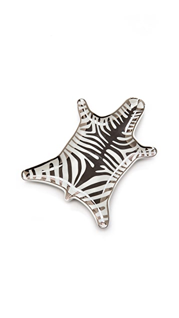 Jonathan Adler Блюдо Metallic Zebra