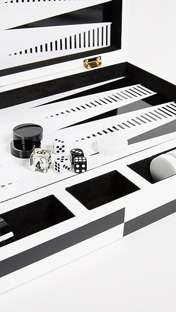 Jonathan Adler Op Art Backgammon Set