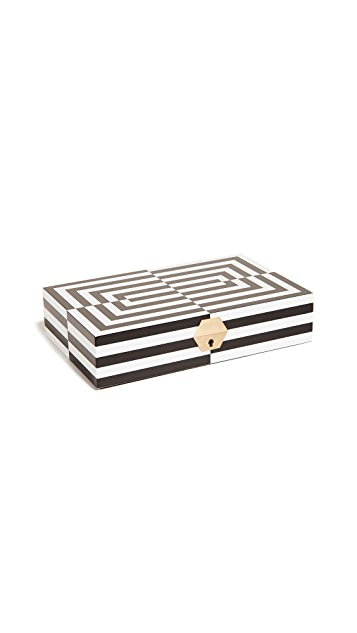 Jonathan Adler Op Art Laquer Jewelry Box