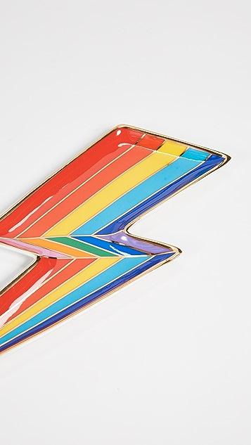 Jonathan Adler Поднос для мелочей Technicolor в виде молнии