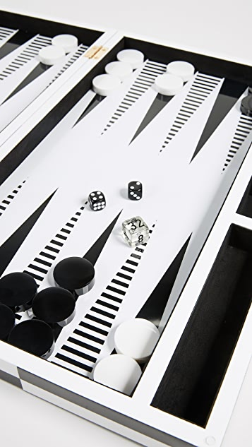 Jonathan Adler Lacquer Op Art Backgammon Set