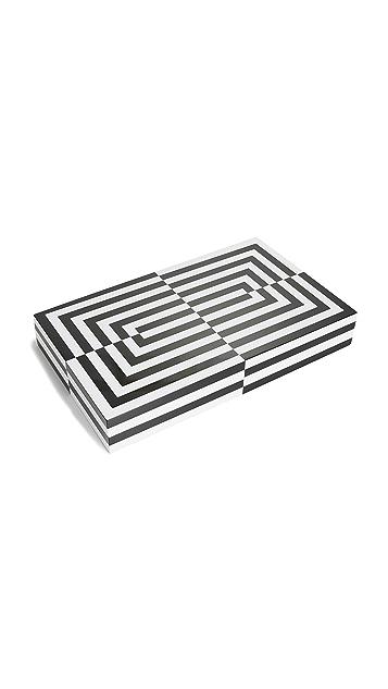 Jonathan Adler Lacquer Op Art Backgammon Set