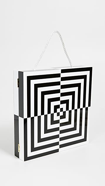 Jonathan Adler Op Art Dartboard Set