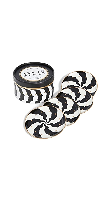 Jonathan Adler Atlas Coaster Set