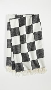 Jonathan Adler Checkerboard Baby Alpaca Throw Blanket
