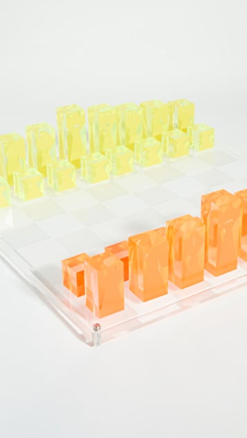 Jonathan Adler Acrylic Chess Set