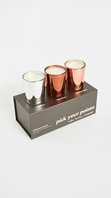 Jonathan Adler Pick Your Poison - Votive Candle Set of 3