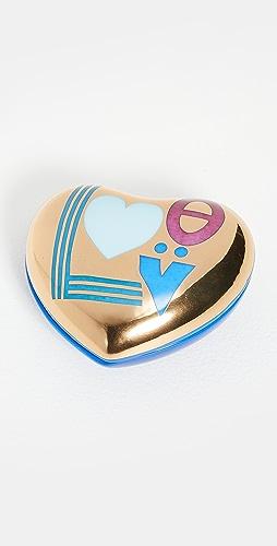 Jonathan Adler - Love 心形盒 - 蓝色/金色