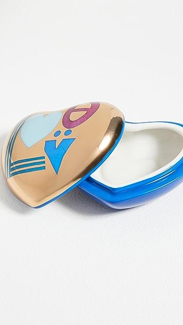 Jonathan Adler Love 心形盒 - 蓝色/金色