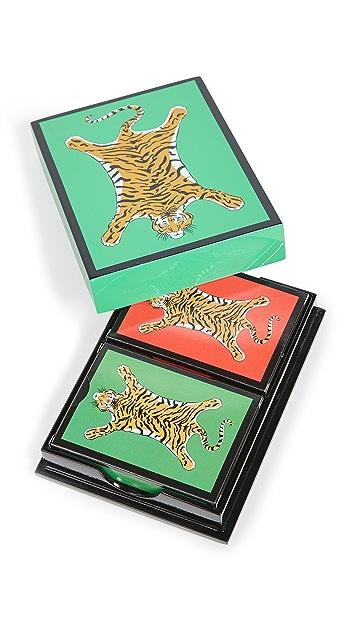 Jonathan Adler Tiger Lacquer Card Set