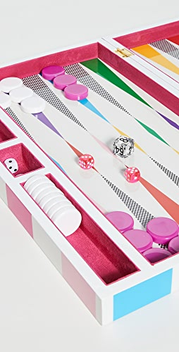 Jonathan Adler - Checkerboard Backgammon Set - Rainbow
