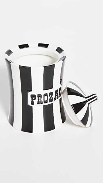 Jonathan Adler Vice Canister - Prozac - Black and White