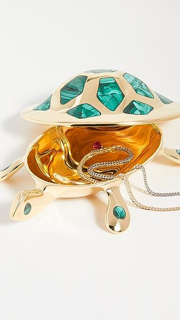 Jonathan Adler 黄铜乌龟盒