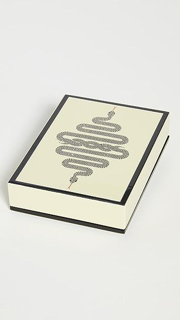 Jonathan Adler Snake Lacquer Card Set