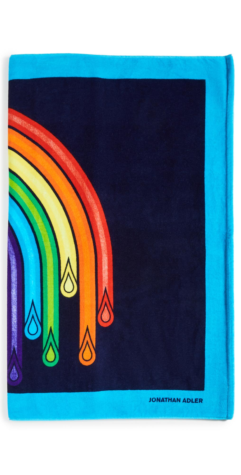Dripping Rainbow Printed Beach Towel