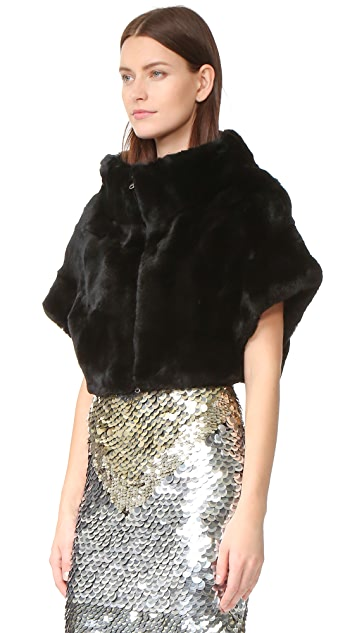 Adrienne Landau Rex Fur Little Zip Jacket