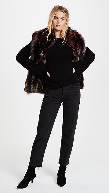 Adrienne Landau Multi Fox Vest