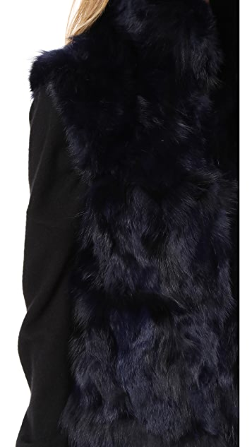 Adrienne Landau Rabbit & Fox Accent Vest