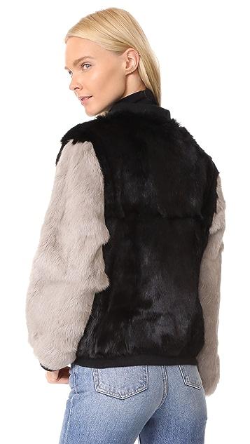 Adrienne Landau Rabbit Varsity Jacket