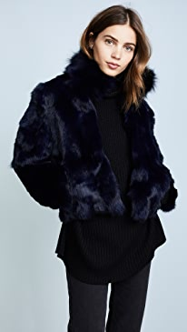 Fur Jacket With Fox Collar