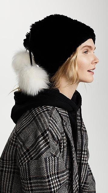 448fb54f0faa28 Adrienne Landau Fur Pom Pom Hat | SHOPBOP