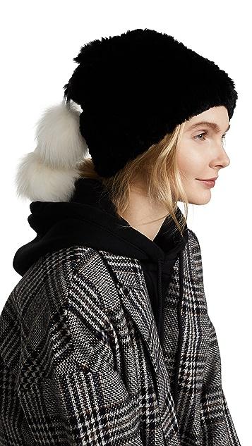 Adrienne Landau Fur Pom Pom Hat