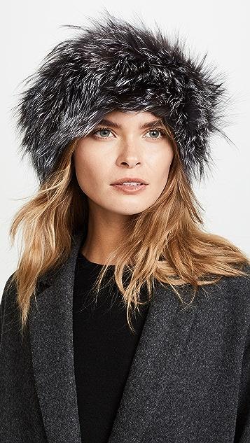 Adrienne Landau Fox Fur Headband ... 4c609b726c0