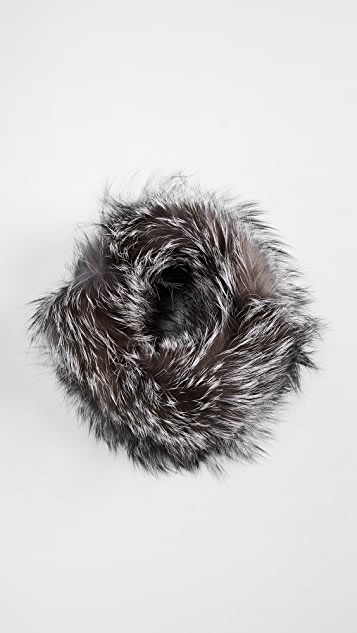 Adrienne Landau Fox Fur Headband