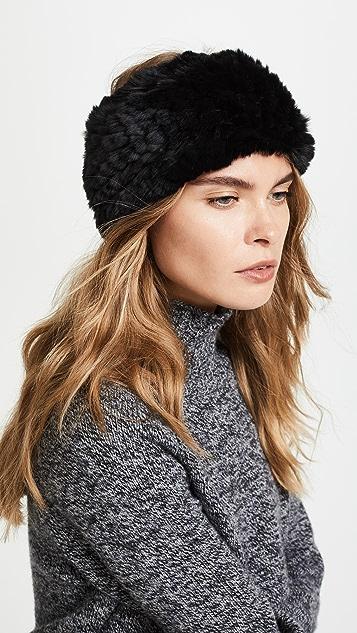 Adrienne Landau Knit Rex Rabbit Fur Headband