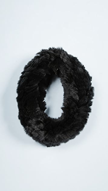 Adrienne Landau Knit Rex Rabbit Fur Headband
