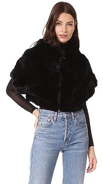 Rex Fur Little Zip Jacket