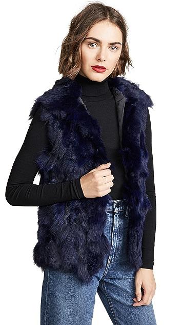 Adrienne Landau Fur Accent Vest