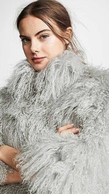 Adrienne Landau Жакет из шерсти монгольского ягненка