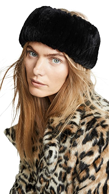Adrienne Landau Rex Rabbit Fur Headband