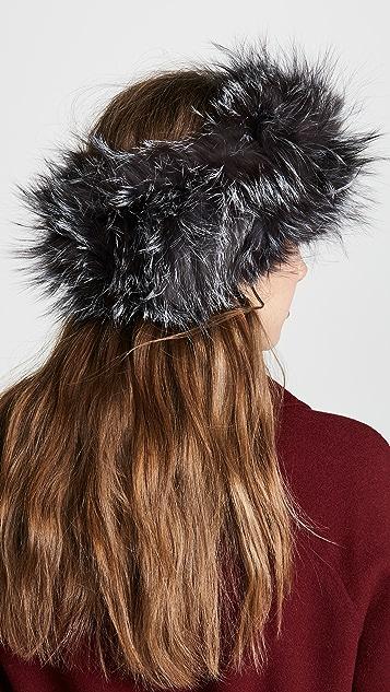 Adrienne Landau Natural Fox Fur Headband