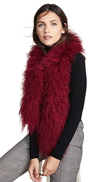 Adrienne Landau Mong Fur Boa Scarf