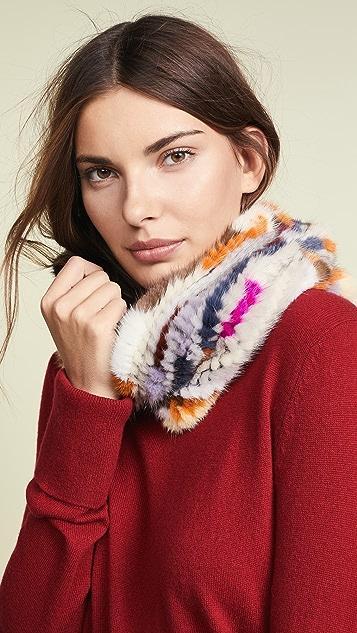 Adrienne Landau Mink Fur Loop Scarf