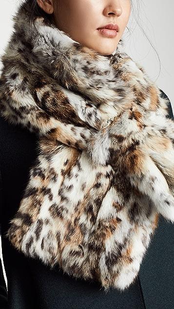 Adrienne Landau Fur Cross Scarf