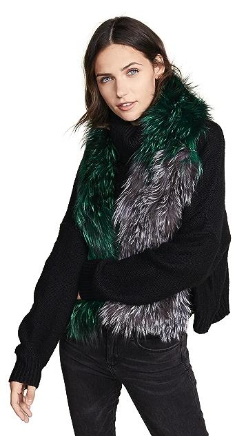 Adrienne Landau Knit Fur Scarf