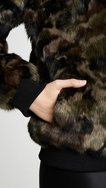 Adrienne Landau Camo Varsity Jacket