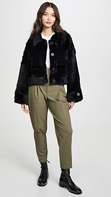 Adrienne Landau Rabbit Jacket