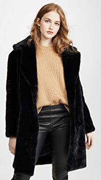 Faux Fur Tailored Jacket