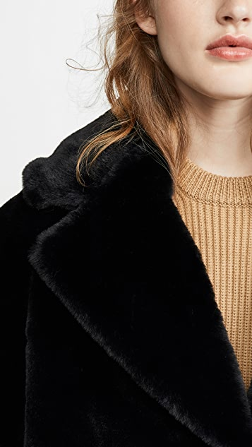 Adrienne Landau Faux Fur Tailored Jacket