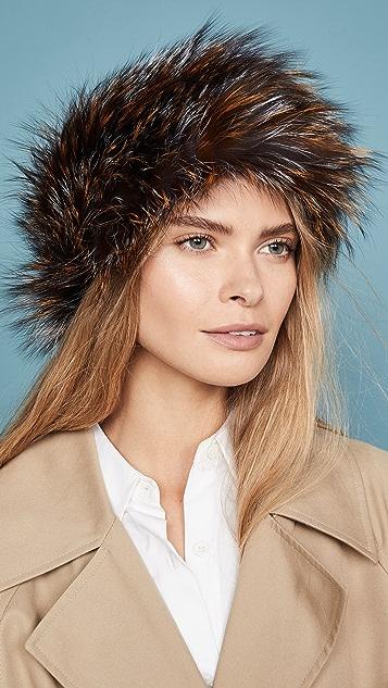 Adrienne Landau Knit Silver Fox Headband