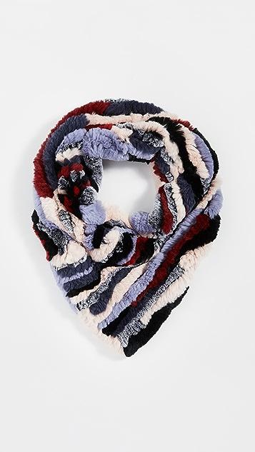 Adrienne Landau 针织兔子三角形围巾